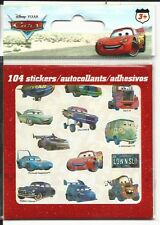 Disney Cars Stickers 104 Total Small Stickers Irredescent Sheets