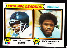 1979 TOPPS #3 WALTER PAYTON & EARL CAMPBELL