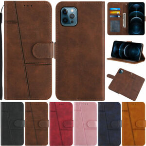 Flip Case For iPhone 13 12 11 Pro X XS Max 6 7 8 Plus Retro Wallet Leather Cover