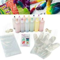 12 Flaschen Dye Paint Set One Step Tie Dye Set Lebendige Textilfarbe W7S6