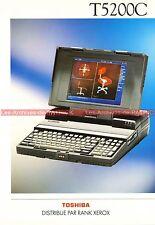 TOSHIBA T5200C T5200 C T 5200 Portable Documentation PublicitéVintage