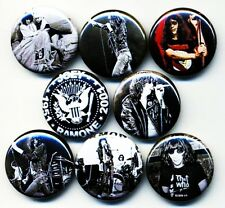 Joey Ramone x 8 NEW 1 inch pins buttons badges punk RIP