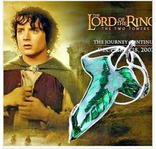Señor De Los Anillos Hobbit Elfo Collar de hoja verde Broche Joyería Colgante Pin