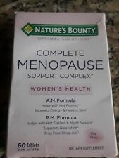 Nature's Bounty Complete Menopause Support Complex 60 Tablets Exp 12/ 2020