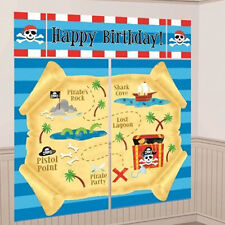 PIRATE PARTY Treasure WALL POSTER DECORATING KIT (5pc) ~ Birthday Supplies Deco