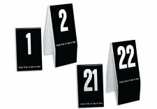 Plastic Table Numbers 1-40- Tent Style, Black w/White Numbers, Free shipping