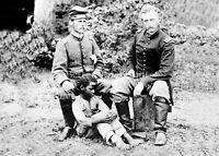 1862 George Custer Rescued Slave PHOTO Confederate Prisoner,Civil War General