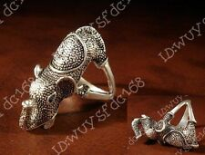 Hot fashion beautiful Tibetan Tibet Silver Elephant Design men's ring AS24