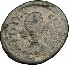 Aelia flacilla 379ad Antigua Rara Moneda Romana Victoria chi-rho Cristo Monog i32820