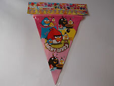 ANGRY BIRDS BIRTHDAY PARTY FLAG BANNER DECORATION 3M LENGTH