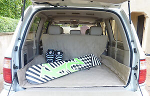 """Cargo Liner Mat For Dog Pet Quilted Padded Fit SUV Truck Van 52""""W x 93""""L, Taupe"""