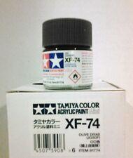 Tamiya acrylic paint XF-74 Olive drab. 10ml Mini.