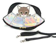 Sleepyville Critters Alien Kitten Cat Spaceship Body Shoulder Bag Handbag Purse