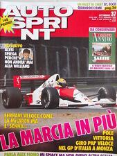 Autosprint n°37 1990 Mc Laren Ayrton Senna - Jean Alesi  [P8]