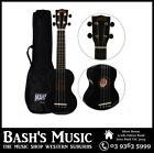 Mahalo MR1 Soprano Ukulele Beginner Starter with Bag Carry Case - BLACK