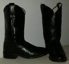 LAREDO WOMEN'S Black leather Western Roper BOOTS Size 7 M Made in USA