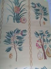 Double Roll Thibaut Wallpaper Pineapples T6440 Run 3 Out Of Print