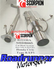 "Scorpion Honda Civic Type R EP3 Auspuffanlage Edelstahl Cat Back Non Res 4"" Tail"