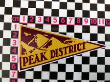 1960's Style Peak District Holiday Pennant Retro Classic Car Window Sticker
