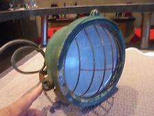 Ancien Projecteur Ancienne Lampe en Aluminium Déco Atelier Indus Steampunk 230V