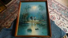 "Vintage ASIAN MCM OIL PAINTING Signed: KIM Y.H. Original Art 22"" x 17"" #2 VG !"