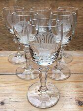 Set Of 6 Stunning Vintage Glasses With Hot Air Balloon Design/Retro Bar/Kitsch