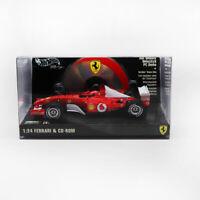 HOTWHEELS 1/24 FERRARI & CD-ROM 2002 Schumacher Formel 1 F1 Rennwagen Modell