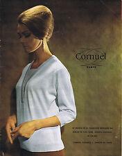 PUBLICITE ADVERTISING 084 1963 CORNUEL cardigan en pure laine mérinos