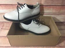 Womens Clarks Originals Empress Lo White Leather Flats - US 7.5 UK 5 NIB