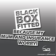 Black Box Fitted Funny Novelty Joke Car Vinyl Decal Sticker | DUB | JDM | Euro