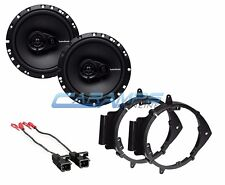 "ROCKFORD FOSGATE 6.5"" STEREO AUDIO SPEAKERS W/ DOOR MOUNTING BRACKETS & HARNESS"