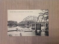 Vintage Postcard Hadley Trolley Over the Connecticut River Posted 1910