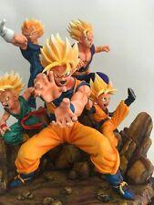 Dragonball Super Saiya Goku Vegeta Gohan Trunks Resin Statue Diorama New