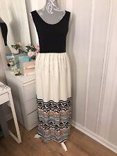 Long Maxi Dress Ladies Atmosphere Size 14 Black Aztec