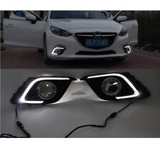 2PC LED Daytime Running Light Waterproof For Mazda3 Axela Fog Lamp DRL 2013 2014