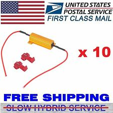10x 50W 6 ohm Load Resistor Fix LED Bulb Fast Hyper Flash Turn Signal Blink