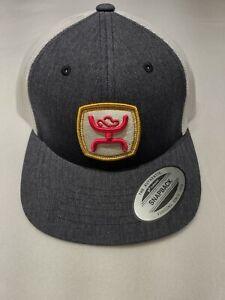 Hooey Youth Blitz Patch 6-Panel Trucker Hat Grey/White