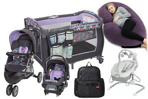 Baby Stroller with Car Seat Travel System Playard Infant Swing Bag Pillow Combo