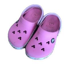 Disney Minnie Mouse Crocs Sandal Shoes Size 8 9 Pink Closed Toe Flip Flops Clogs