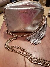 NEW Victoria's Secret Fashion Handbag Crossbody Purse Silver Gold strap