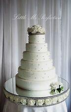 DIAMANTE ROSE FLOWER WEDDING CAKE STAND SEPARATOR  REAL CRYSTAL CAKE TOPPER