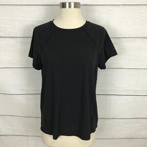 Athleta Ultimate Train Tee Shirt Top Black Size Small S Short Sleeve