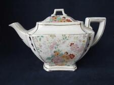 Antique Teapot  1920's Art Deco Teapot Lancaster & Sons Chintz & Gilt Decoration
