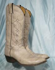 "JUSTIN 1648 14"" Variegated Light Gray Leather Western Cowboy Boots Sz 9B"