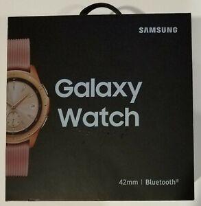 Samsung Galaxy Watch SM-R810 42mm Rose Gold Case Classic Buckle Pink Beige