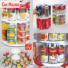 Can Organizer Spinning Kitchen Pantry Fridge Shelf Rack Storage Spices Stand New