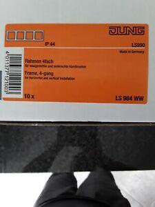 Jung LS 990  Rahmen 4 fach     LS 984 weiß