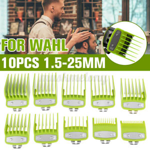 10Pcs Hair Clipper Limit Cutting Guide Comb Guards Tool Set For WAHL Clipper USA