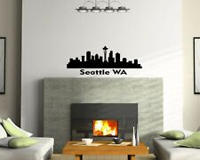 Seattle Skyline Vinyl Wall Decal Wall Sticker Man cave Bedroom Removable
