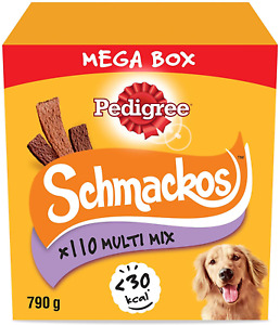 Pedigree Schmackos Mega Pack - Dog Treat Multipack with Beef, Lamb and Poultry g